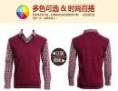 全球内衣交易网供应批发低价男士保暖衬衫假两件批发