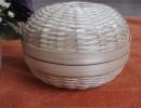 竹编厂家定制生产各种手工编织|商务礼品包装篮|长形木片收纳篮