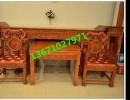 老挝酸枝中堂|大果紫檀中堂|红木素面中堂价格|酸枝中堂六件套