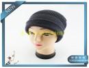 双面戴羊毛针织帽毛线帽黑色正面  灰色反面