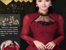 广州衣美达服饰批发刺绣蕾丝上衣修身小衫