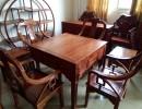 中山博豪红木刺猬紫檀休闲家具豪华自动麻将桌七件套