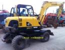 出售二手现代60-7胶轮挖掘机极品现代60轮胎挖掘机