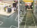 石塑地板供货商,pvc片材地板厂家