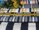 针织彩色间条大布头 单面条纹t恤