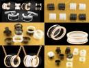 宝格丽高精密氧化锆陶瓷戒指双排两环戒子配件生产定制批发厂