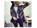 库存杂款外贸尾货韩版女装中长款开衫外套 地摊服装针织毛衣批发