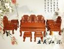 雕刻布局严谨的红酸枝家具 老挝红酸枝沙发