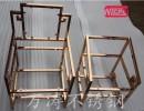 304钛金不锈钢装饰架、展示架定制。25*25*1.0