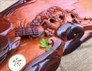 红木精品茶盘 老挝红酸枝 功夫茶盘  办公摆件
