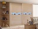 厂家直销 订制百叶衣柜门 新型环保pvc木塑门衣柜门