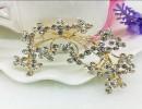 【水钻胸花】欧美时尚新款高档胸针男士树叶水钻胸花女复古领针批发