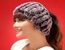 【护耳帽】013秋冬季新款皮草空顶帽獭瞳头套保暖护耳帽女帽