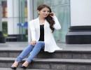 【中长款女】秋季潮款纯色镂空大码针织披肩时尚中长款女士针织开衫防晒上衣