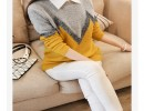 【套头针织】2015秋冬韩版新款宽松显瘦保暖包芯纱亮丝套头针织毛衣女