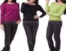 【打底毛衣】秋冬新款女装纯色低圆领针织毛衫修身低领打底毛衣女长袖批发
