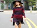 【蕾丝长袖上衣】欧洲站015秋季新款女装高端三色蕾丝长袖上衣+流苏半裙套装