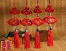 【春节装饰用品】新款双线苹果福灯笼结春节装饰用品布艺工艺品大号挂饰中国结