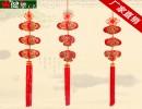 【布艺工艺品】供应中国结灯笼春节挂件立体布艺工艺品福字刺绣专利产品C1608