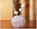 【情人节礼品】日式白玫瑰花瓶藤条无火香薰家居摆设Zakka杂货情人节礼品