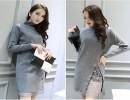 爆款韩版冬季中长款针织毛衣批发2015新款针织开衫外套批发