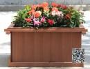 工程木花盆|售楼中心木花箱|移动防腐实木花箱|户外道路隔离花