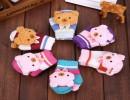 【双层加厚】2015新款韩版冬天儿童可爱双层加厚保暖手套小孩针织手套批发