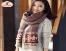 【毛线围巾】thantrue韩版秋冬季毛线围巾保暖针织毛线围脖女士加厚流苏百搭