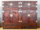 大板木料生产的红酸枝木衣橱 王义红酸枝木衣橱料大工细