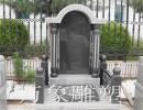 厂家直销石雕花岗岩黑白点龙凤浮雕高档墓碑墓地殡葬陵园
