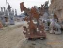 汉白玉流水盆景 园林景观花卉雕塑摆件
