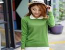 秋冬新款纯羊绒衫复古娃娃领打底衫毛衣女带领套头修身针织衫