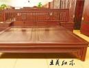 高端酸枝大床哪里的好 不上漆的老挝红酸枝大床 大红酸枝家具