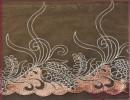 供应阳江 大花刺绣锦纶丝内衣辅料 口罩袖套蕾丝水溶花边