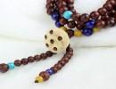 东莞瓷器御轩【个性手链】吴秀波同款印度小叶紫檀108珠链