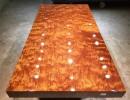 巴花实木大板根雕茶桌实木家具