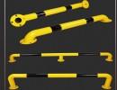 河南永城钢管挡车器 车轮限位器定位器阻车器 车库停车位倒车汽