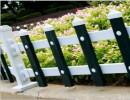 包立柱 PVC塑钢护栏 围栏栅栏草坪护栏庭院花园围栏 一米长