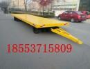 厂区平板拖车 实心轮胎平板拖车 平板拖车价格