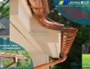 正宗专业进口天津屋面落水PVC树脂排水管材管件成品铝合金天沟
