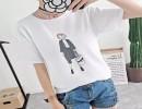 外贸中童短袖夏季针织短袖体恤时尚短袖体恤批发 新款女装牛仔裤