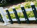 专业定制生产pvc草坪护栏,塑钢草坪护栏