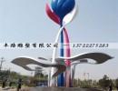 大型不锈钢戒指雕塑 爱情主题公园雕塑摆件