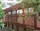 西安防腐木花园景观花架 凉亭 地板碳化木木材 防腐木原木提供