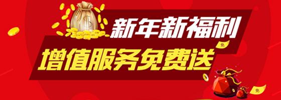 增值服务免费送【新年新福利】